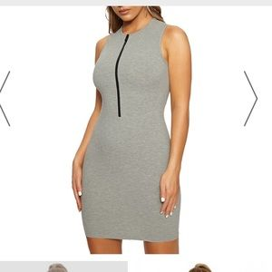 Naked wardrobe zip front dress